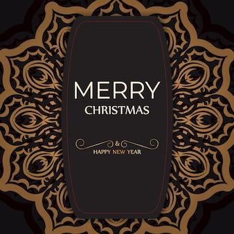 Cartaz de saudação feliz ano novo e feliz natal cor branca com padrão de inverno.