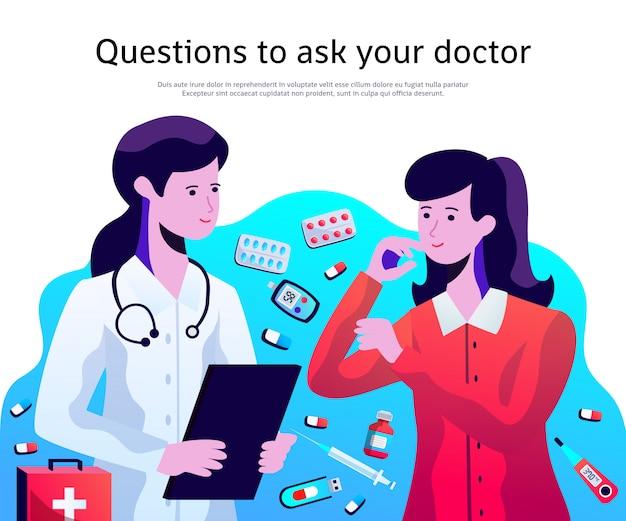 Cartaz de serviço médico médico