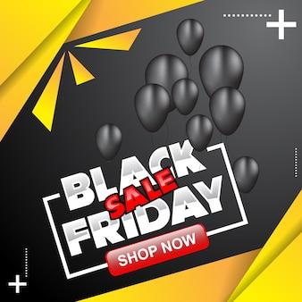 Cartaz de sexta-feira negra e ilustração de banner