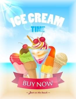 Cartaz de sorvete