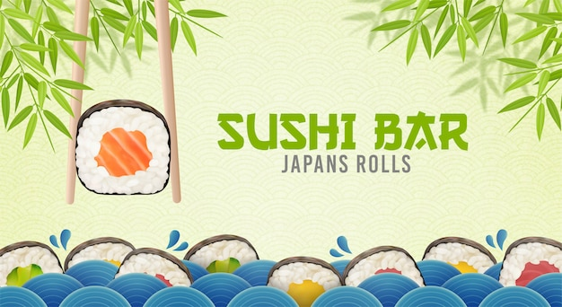 Cartaz de sushi bar