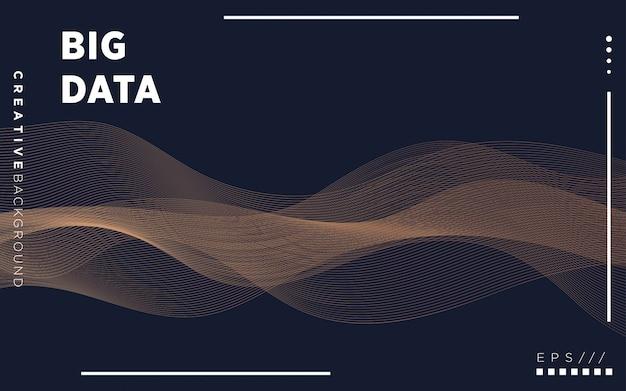 Cartaz de tecnologia de visualização moderna. glow partículas digitais. conceito de grande volume de dados.
