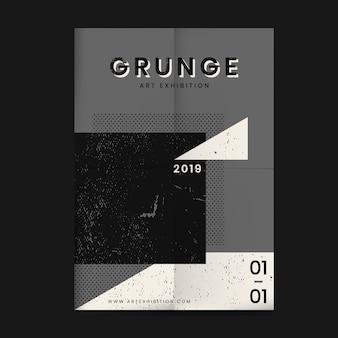 Cartaz de textura angustiado grunge