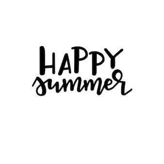 Cartaz de tipografia de verão. frase manuscrita conceitual t camisa mão com letras desenho caligráfico. vetor inspirador