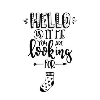 Cartaz de tipografia desenhada de mão.