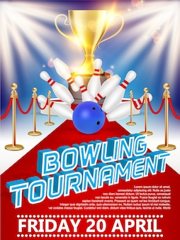 Cartaz de torneio de boliche