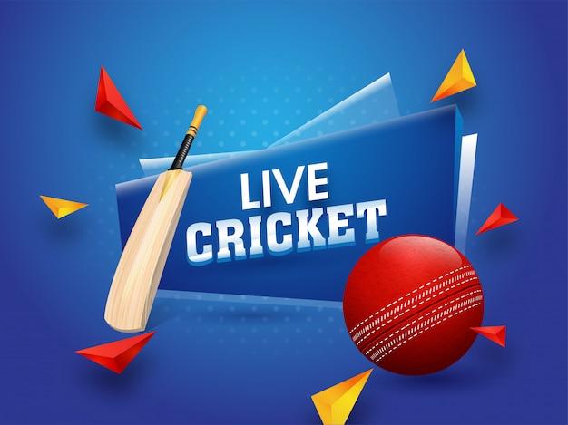 Cartaz de torneio de críquete ao vivo