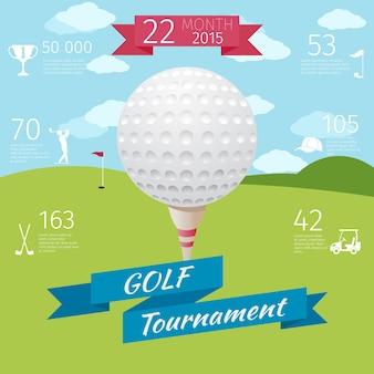 Cartaz de torneio de golfe