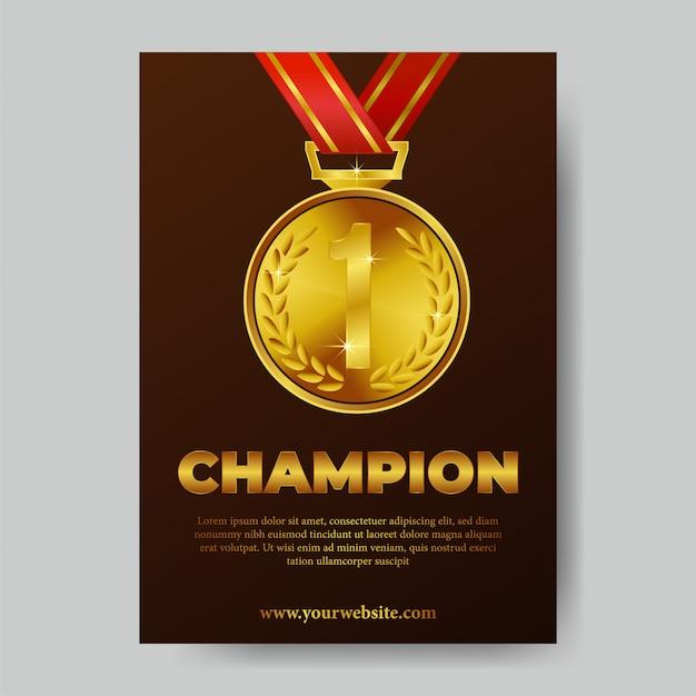 Cartaz de troféu de campeão