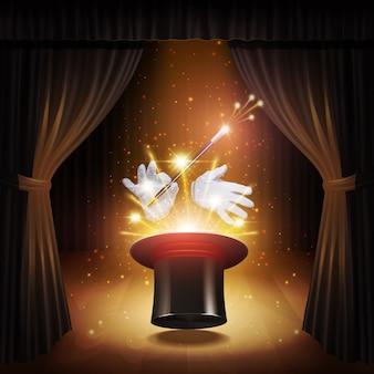 Cartaz de truque de mágica