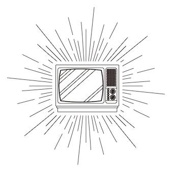 Cartaz de tv retrô isolado ícone do design