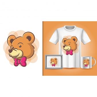Cartaz de urso, camiseta e merchandising