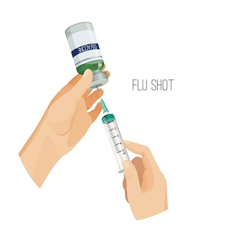 Cartaz de vacina contra a gripe