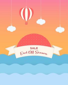 Cartaz de venda com formas geométricas