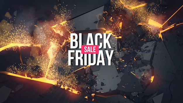 Cartaz de venda da black friday