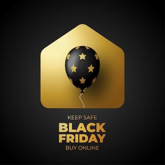 Cartaz de venda da black friday