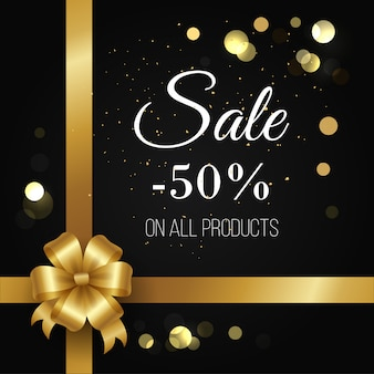 Cartaz de venda de inverno -50% de desconto em todos os produtos