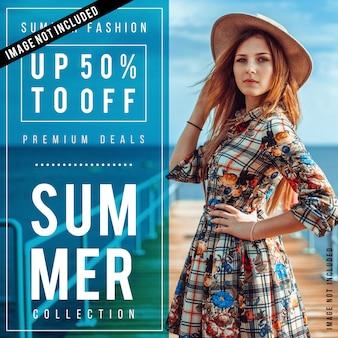 Cartaz de venda de moda moderna