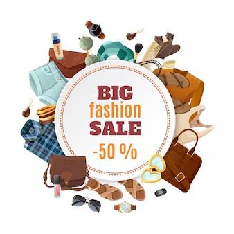 Cartaz de venda de moda