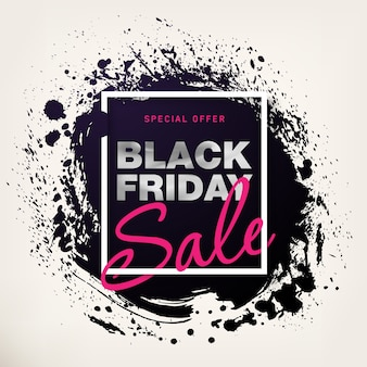 Cartaz de venda de sexta-feira negra com texto prateado