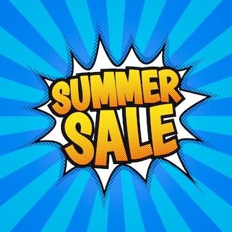 Cartaz de venda de verão