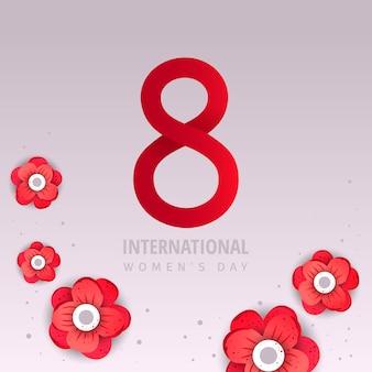 Cartaz de venda do dia internacional da mulher.