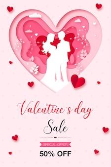 Cartaz de venda feliz dia dos namorados