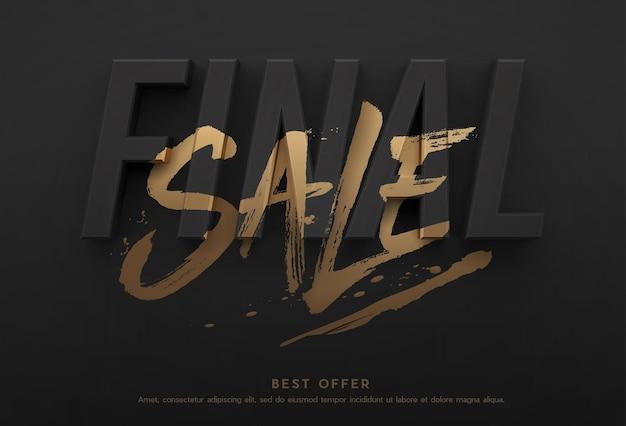 Cartaz de venda final ou design de folheto.