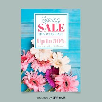 Cartaz de venda fotográfica primavera