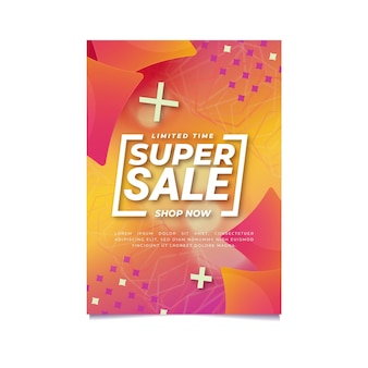 Cartaz de venda gradiente