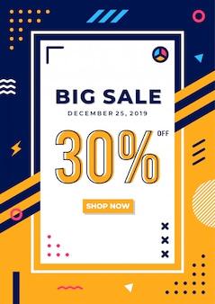 Cartaz de venda minimalista