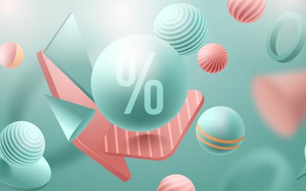 Cartaz de venda. modelo de design para evento de férias. ilustração