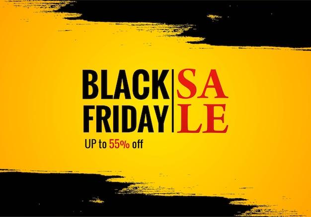 Cartaz de venda na sexta-feira negra para grunge