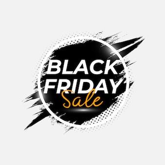 Cartaz de venda sexta-feira negra abstrata com modelo de vetor de respingo de pincel