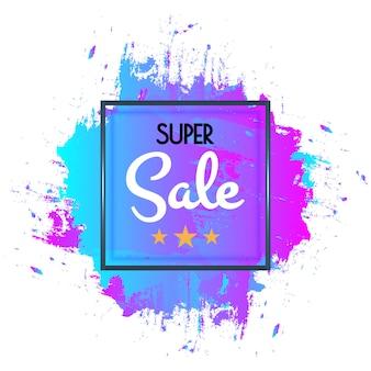 Cartaz de venda super abstrata