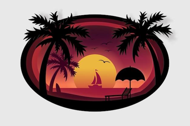 Cartaz de verão, banner de viagem de verão