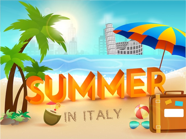 Cartaz de verão na itália