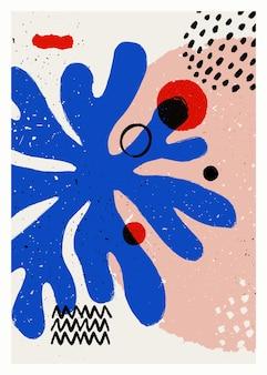 Cartaz de vetor de arte abstrata