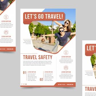 Cartaz de viagem com foto