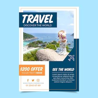 Cartaz de viagem com imagem