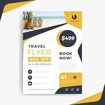 Cartaz de viagem com texto e foto