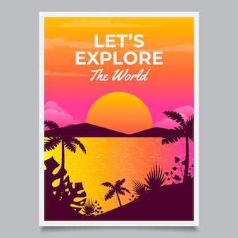 Cartaz de viagem ilustrado