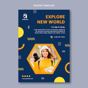 Cartaz de viagem plana