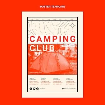 Cartaz de viagens de design plano