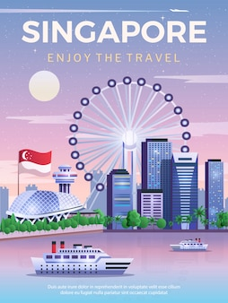 Cartaz de viagens de singapura