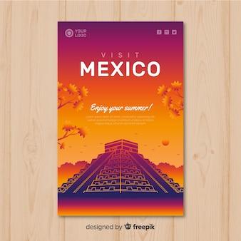 Cartaz de viagens do sol plana