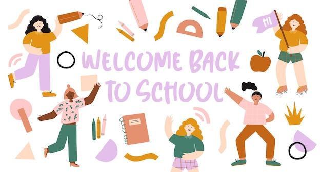 Cartaz de volta às aulas