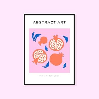 Cartaz desenhado à mão abstrato perfeito para coleção de arte de parede