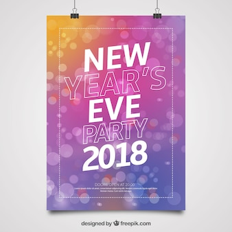 Cartaz do ano de véspera de 2018