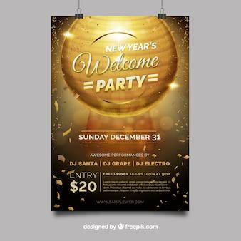 Cartaz do ano novo da festa